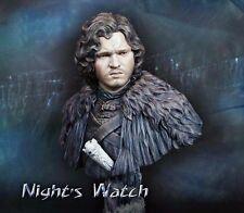 █ 1/10 Resin Jon Snow Night's Watch Game of Thrones Figure Bust Unpainted TS024