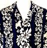 Aloha Republic Blue Hawaiian Aloha Camp Shirt Hibiscus Made in Hawaii