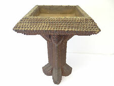 Antique Old Wood Wooden Tramp Decorative Arts & Crafts Base Plant Stand Holder