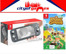 Nintendo Switch Lite Console - Grey & Animal Crossing: New Horizons Game Bundle