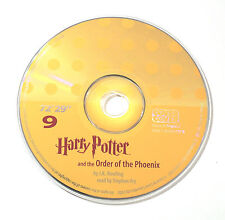 Harry Potter Order of the Phoenix Stephen Fry Audio Book CD SPARE DISC: NINE 9