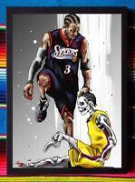 ✺Framed✺ ALLEN IVERSON Philadelphia 76ers NBA Basketball Poster - 62 x 44 x 3cm
