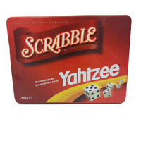 Scrabble and Yahtzee Games in One Tin Parker Brothers