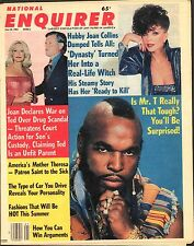 1983 National Enquirer May 24 Joan Collins, Mr. T, Ted & Joan Kennedy FREE SHIP