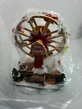 ST NICHOLAS SQUARE CHRISTMAS VILLAGE CARNIVAL FERRIS WHEEL ANIMATED WITH MUSIC