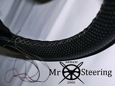 FOR HUDSON HORNET 50-57 PERFORATED LEATHER STEERING WHEEL COVER GREY DOUBLE STCH