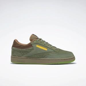 Reebok Classics Mens National Geographic Club C Tennis Shoes Green