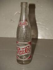 Vintage Pepsi Bottle-Red & White Label Embossed Glass-10 oz-New York-Duraglas