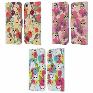 HEAD CASE FLORAL & ANIMAL PATTERN LEATHER BOOK CASE & WALLPAPER FOR iPOD TOUCH