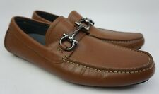 Salvatore Ferragamo Parigi Driving Shoes Brown Radica Bit Loafers Size 8 D