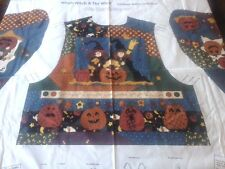 Cranston Halloween Vest Fabric Craft Panel WHICH WITCH & THE WHO? 3 Size S M L