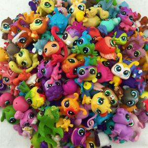 Random Lot 7PCS Original Littlest Pet Shop Mini LPS Cute Animals Figure Toys