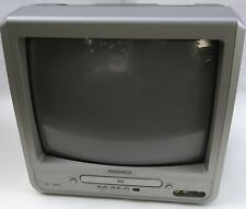 """Retro Magnavox MWC13D6 13"""" Color TV DVD Combo Front Gaming Inputs CRT"""