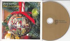 CHRIS NORMAN That's Christmas 2015 UK 1-track promo CD Smokie