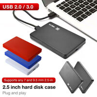 """USB3.0/2.0 2.5"""" SATA HDD SSD Enclosure Mobile Laptop Hard Disk Case Box 5Gbps"""