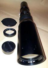 Superteleobbiettivo Metrox 500mm f8 PRESET T2 + M42x1