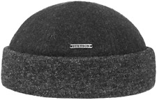 STETSON Docker Cap Knitted Cap Hat Sparr Cashmere 32 Grey New Trend