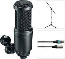 Audio Technica AT 2020 Studio Kondensator Mikrofon SET mit Mikro Stativ + Kabel