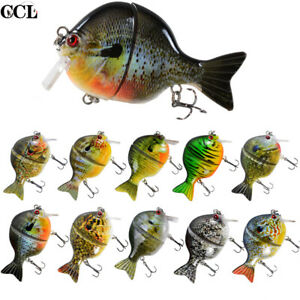 "3.7"" Gill Swimbait Fishing Lure Topwater Jointed Crankbait Bass Fish Bait Tackle"