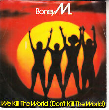 """BONEY M  We Kill The World PICTURE SLEEVE 7"""" 45 record NEW + jukebox title strip"""