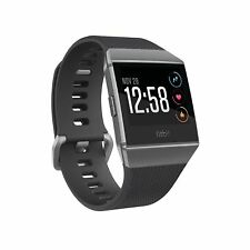 NEW FitBit IONIC Smartwatch - Charcoal/Smoke gray Small & Large Band Included