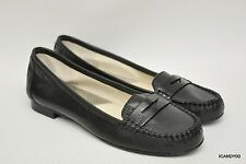New Michael Kors WINSOR Leather Penny Loafer Flat Slip-On Moc Black 6