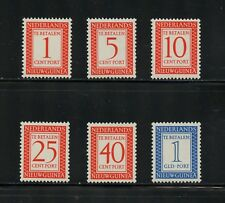 P070  Netherlands New Guinea 1957  postage dues    6v.  MNH