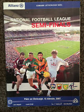 2007 GAA NFL Semi-Finals Galway v Mayo & Kildare v Donegal Programme