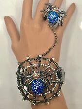 Crystal Spider Web Slave Bracelet Ring