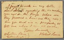 1886 | interesting MS postcard between missionaries re: ice machine Congo AFRICA