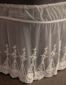 Victorian Trading Co Ivory Lace Bedskirt King Size