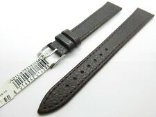 Morellato Cuir Marron 16mm Bracelet de Montre Argent Boucle