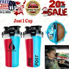 Hydra Cup Dual Threat Shaker Bottle 30 Ounce Made in USA 1 Black Other Sports