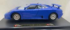 Burago 1991 Bugatti EB 110 (Blue) Excellent Cond in Box 1:24  Scale MINT Model