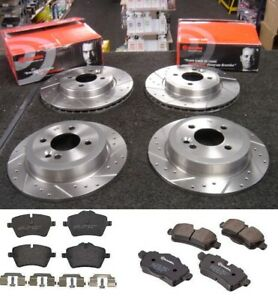 MINI COOPER S CLUBMAN 1.6 R55 R56 BREMBO DRILLED GROOVED DISCS & PADS FRONT REAR