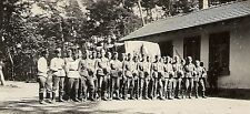 WWII German Army RP- Soldier- Helmet on Hip- Rifle- Training Uniform- Truck- KFZ