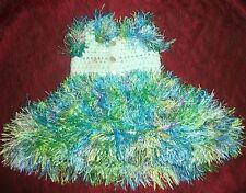 "Hand Knit Ballerina tutu style dress made for American Girl & 17""-20"" dolls Lt G"