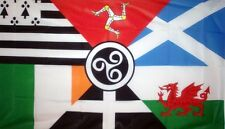 CELTIC NATIONS FLAG 5X3 FEET CORNWALL EIRE SCOTLAND BRITTANY WALES ISLE OF MAN