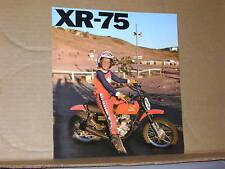 1976 Honda XR75 Motorcycle Sales Brochure - Literature