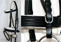 FSS German Posh IGLOO RAISED WHITE Padded Comfort Crank Bridle Dressage Reins