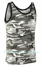 NEW US COMBAT URBAN CAMO ARMY SINGLETS SLEEVELESS VESTS TANK TOP FANCY DRESS