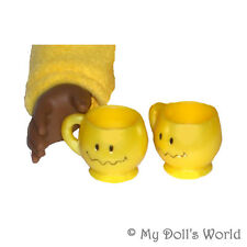 Smile Mugs For 18 Inch Doll - Accessories Fit American Girl Grace Boy - Toy Cups