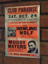 HOWLIN WOLF & MUDDY WATERS  A4 METAL SIGN  CONCERT  POSTER BLUES