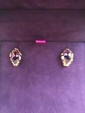 Clogau Welsh 18ct Rose Gold Amethyst Diamond AR Dan Stud Earrings