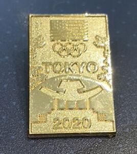 TOKYO  1st USA Olympic NOC TEAM Rare new gold shrine design scarce pin