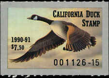 CALIFORNIA #20 1990 STATE DUCK CANADA GOOSE by Ronald Louque