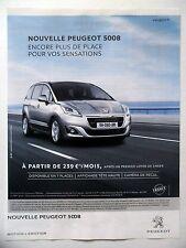 PUBLICITE-ADVERTISING :  PEUGEOT 5008  2014 Voitures
