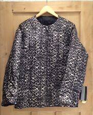 Zara COAT Size M 10 12 Animal Print REVERSIBLE COCOON coat Grey black BNWT
