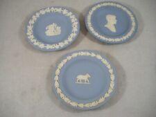 3 Pc Lot Wedgwood Jasper Plates