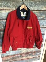 Vintage Red Shell Shellzone Anti Freeze Jacket Gas Motor Oil Size Small